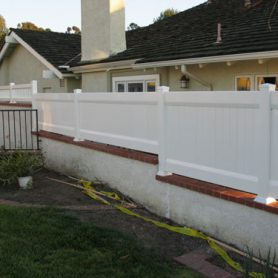 Staggered Privacy Fencing