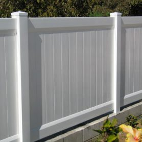 Close-up Privacy Fencing
