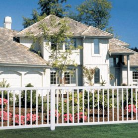 Contemporary Style Triple Crown Picket Fence