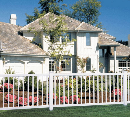 Contemporary Style Triple Crown Picket Fence Vinyl Pro Fence