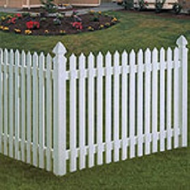 Straight Spade Dogear Picket Fence