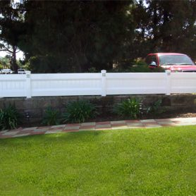 Privacy Fence Block Wall