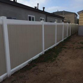Two Tone Full Privacy Vinyl Fence