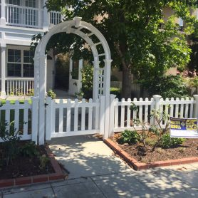 3 foot dog ear picket fence