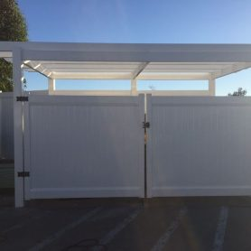 PRIVACY TRASH ENCLOSURE GATE