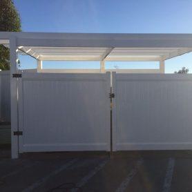 PRIVACY TRASH ENCLOSURE GATE