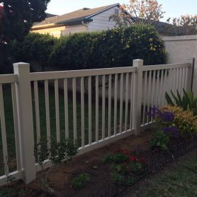 Tan Closed Picket fence
