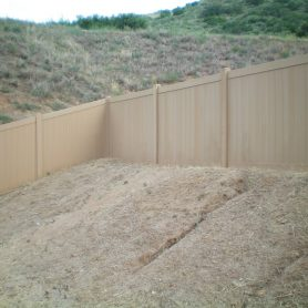 Cedar colored Privacy fence at Pala Casino