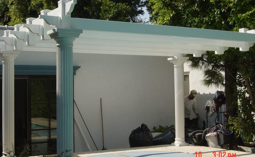 Roman Greco Look Patio Cover Beverly Hills Vinyl Pro Fence