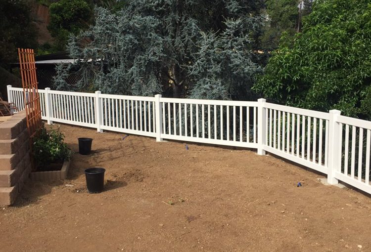 3 foot tall closed top picket fence in La Mesa