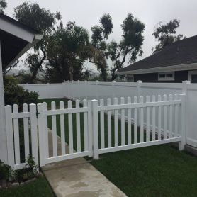 Dog Ear Picket fence with full privacy fence in Carlsbad
