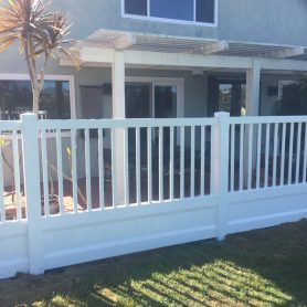 2 feet of privacy with a 3 foot picket accent