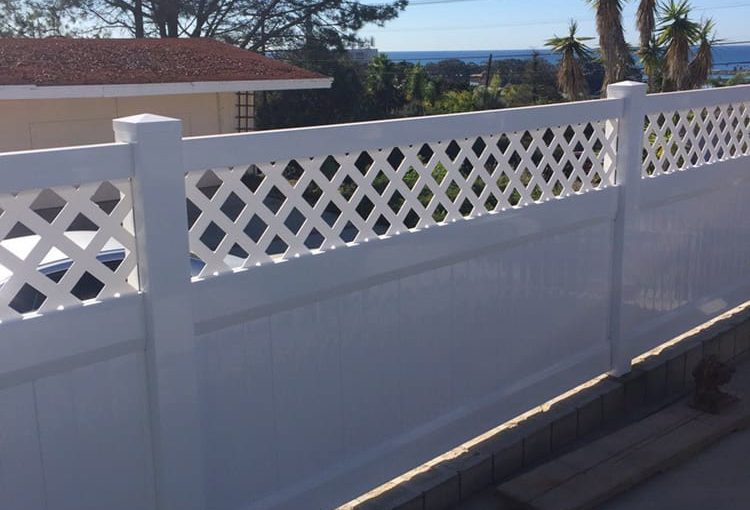 Here's a 3 foot privacy with a 12 inch lattice accent in Carlsbad