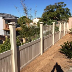 Privacy Fence with Accent
