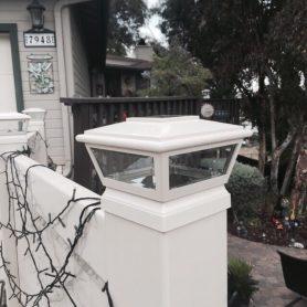 White Solar LED Light Post Cap