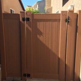 Rustic Colored Wood grain vinyl Gate